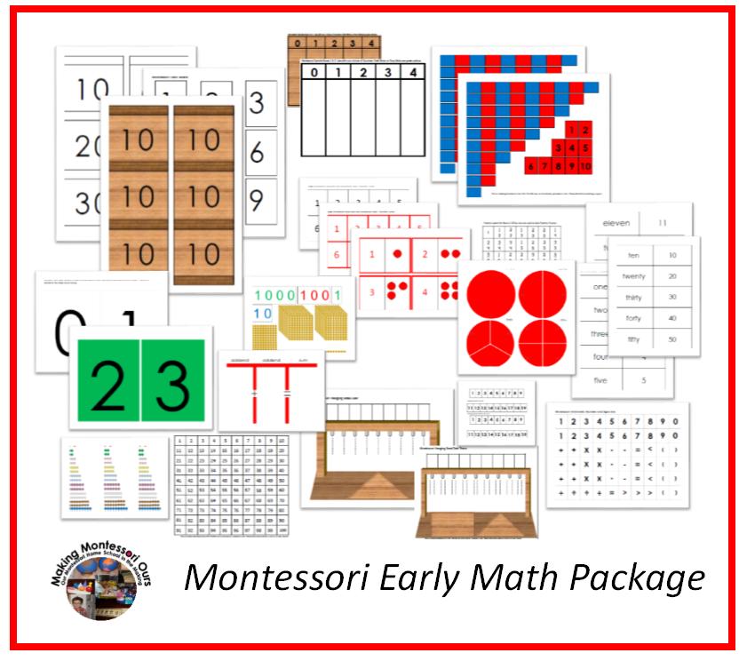 montessori worksheets – Montessori Math Worksheets