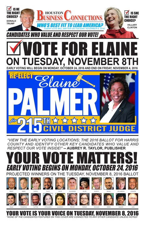 JUDGE ELAINE PALMER VALUES OUR VOTE, SUPPORT AND COMMUNITY!