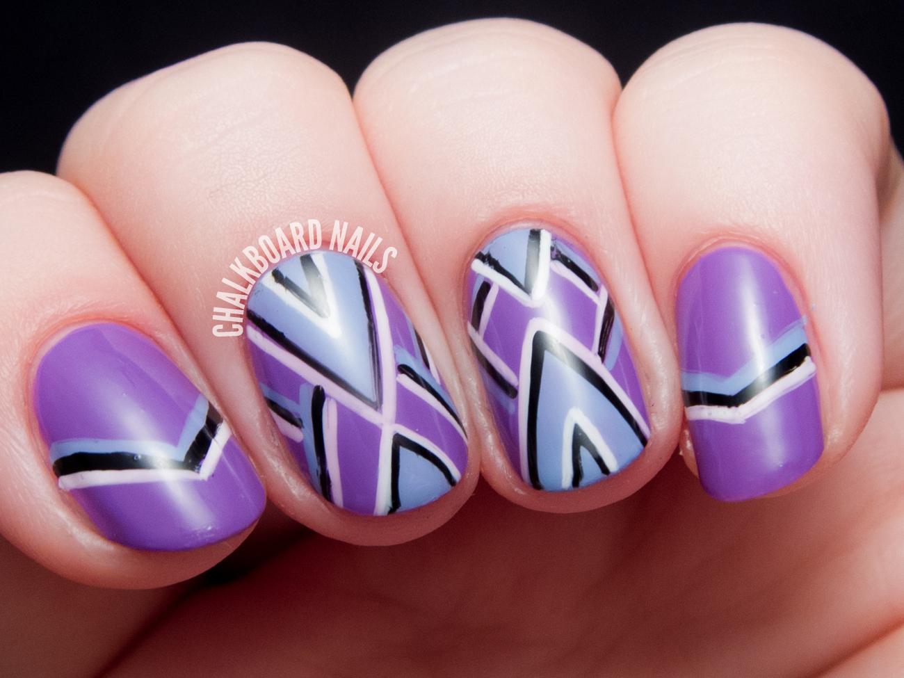 Luxury Freehand Nail Art Design Ensign - Nail Art Ideas - morihati.com