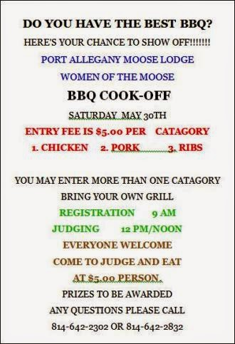 5-30 BBQ Cook-Off Port Moose