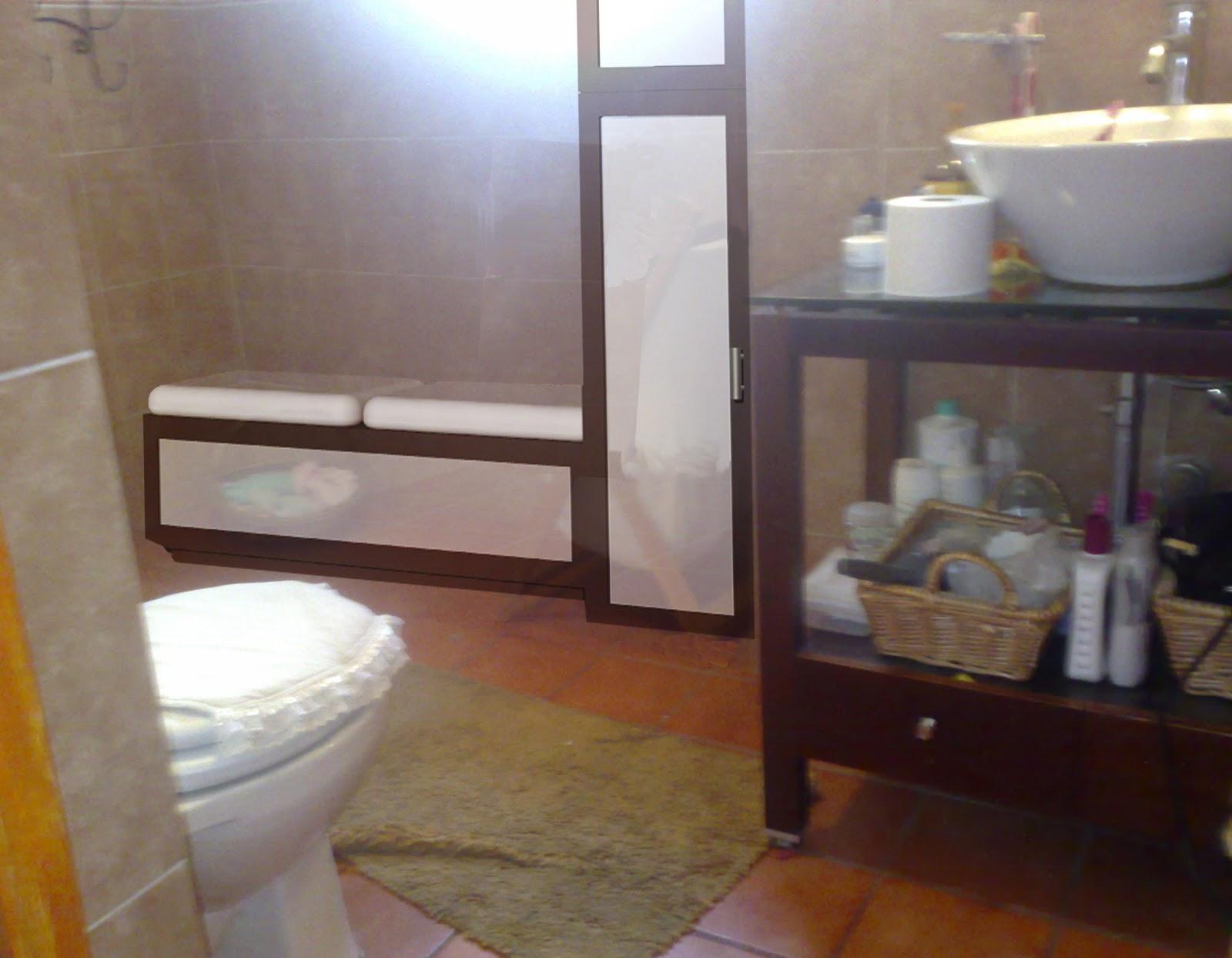 Mobiliario para ba o banca y mueble de almacenamiento for Mobiliario banos diseno