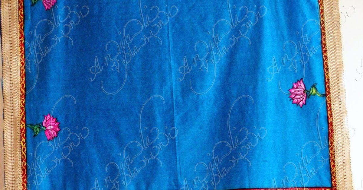 Anjali vilasini fabric painting on saree radha krishna for Aithihya mural painting fabrics