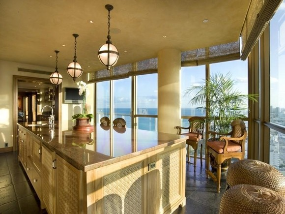 Photo of incredible luxury kitchen with huge kitchen island