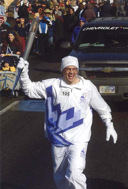 Winter olympic torch run