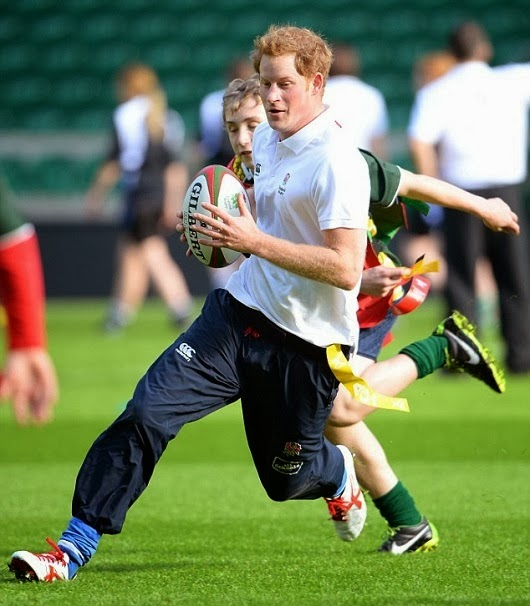 VJBrendan.com: Prince Harry Plays Football With Youngsters