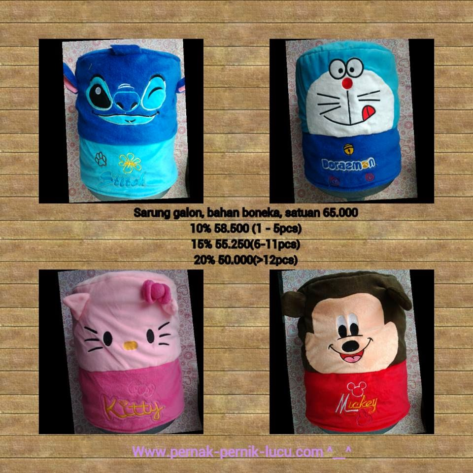 sarung galon hello kitty; sarung galon doraemon; sarung galon stitch; sarung galon mickey mouse; pernak pernik doraemon; pernak pernik hello kitty; pernak pernik mickey; pernak pernik stitch; ana pernik; pernak pernik dapur; perlengkapan dapur; pernak pernik lucu; pernak pernik unik; aksesoris dapur; kitchen implement