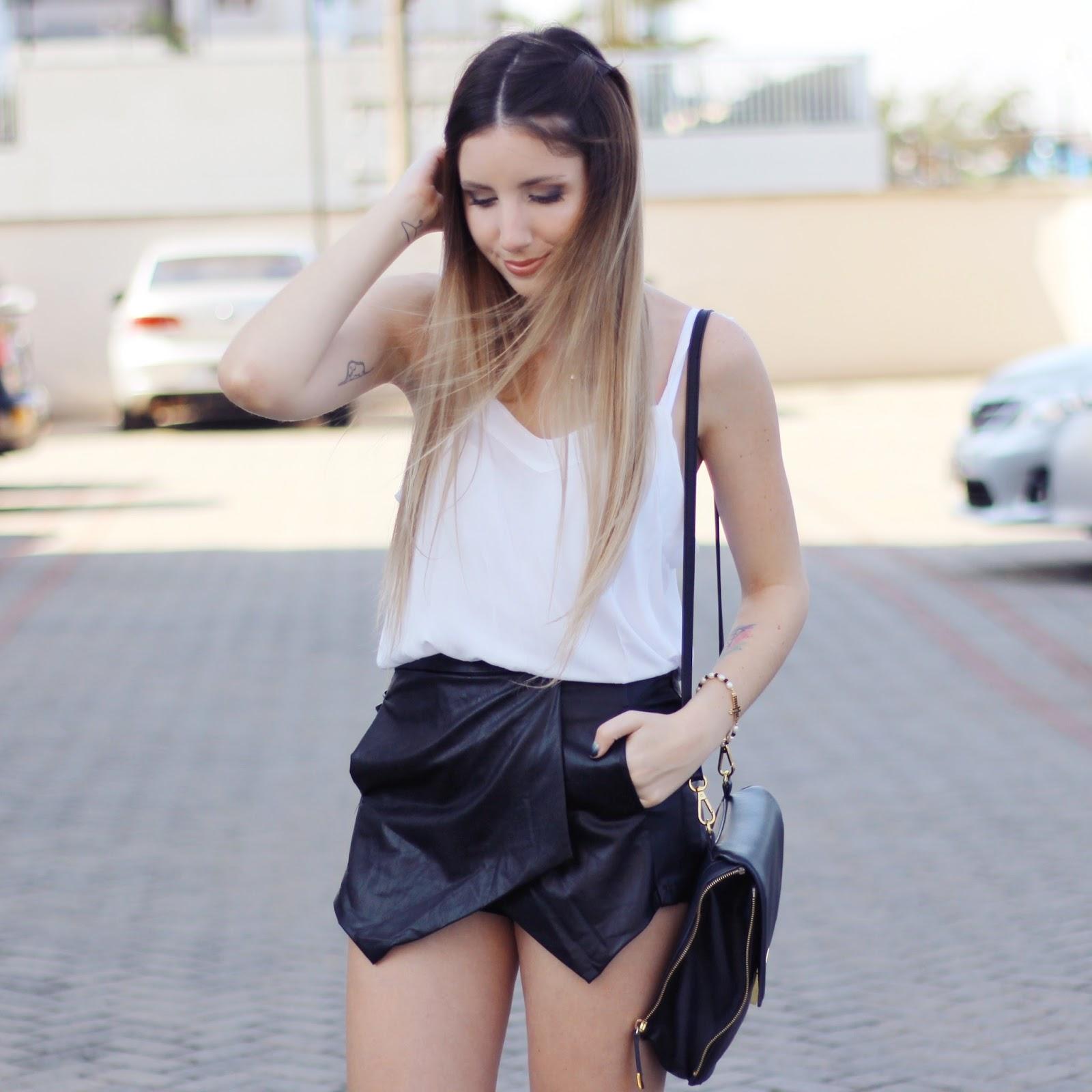 look preto e branco