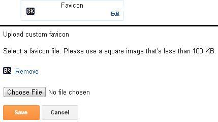 Upload Favicon