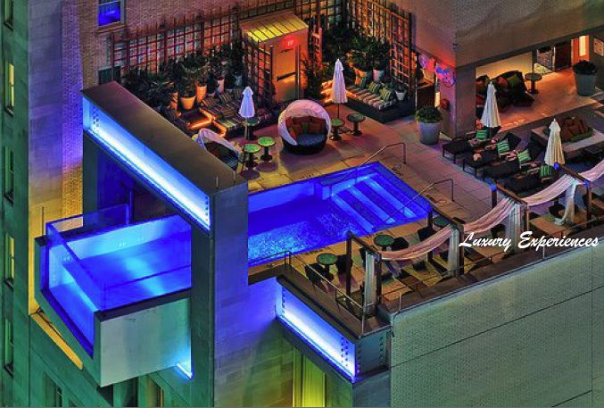 Luxury experiences the best city view pools in the world for Hotels in dallas with indoor pools