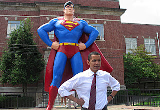 President Obama and Superman