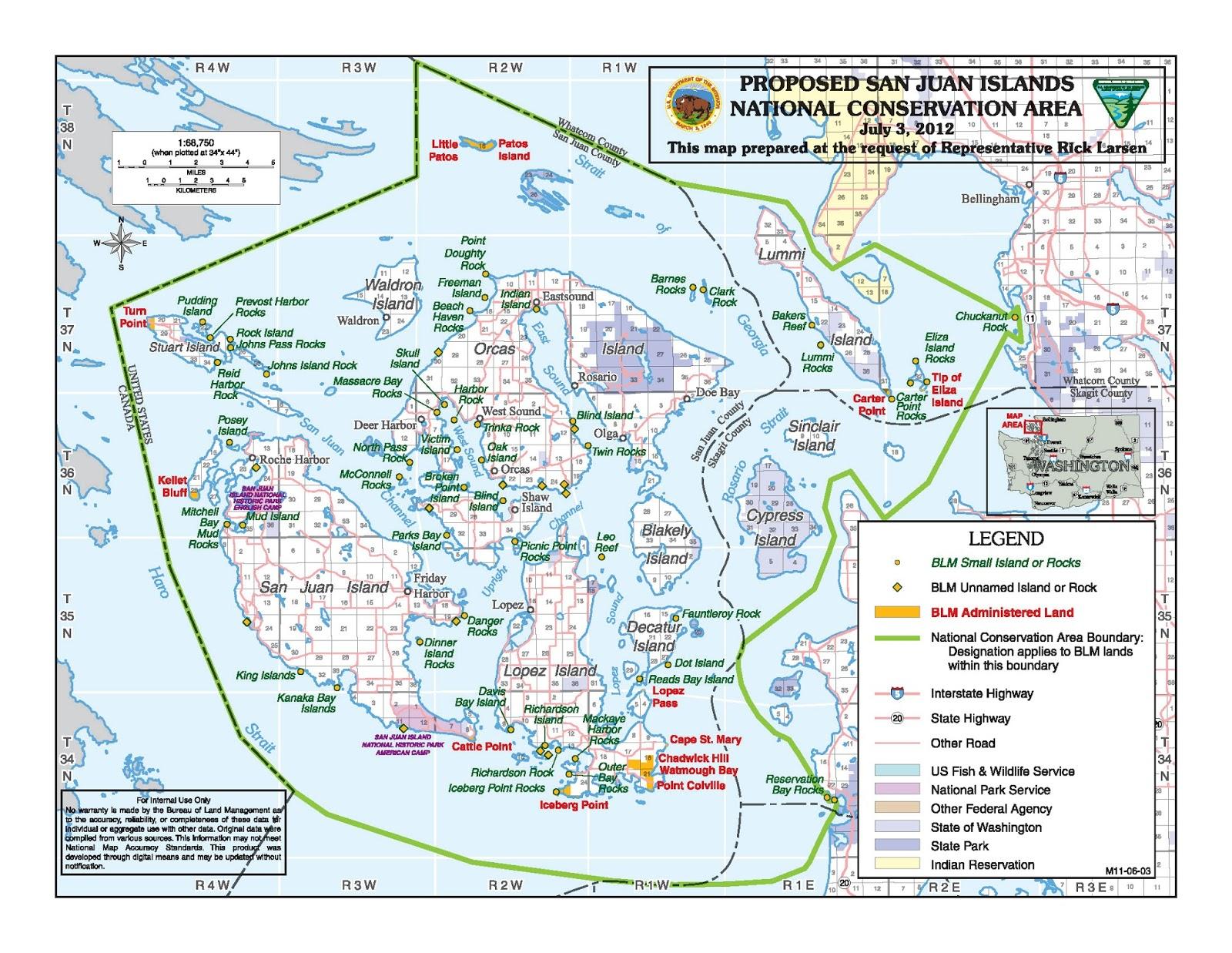 Washington State Map San Juan Islands