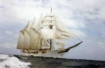 Marineros palermos en el Juan Sebastián de Elcano