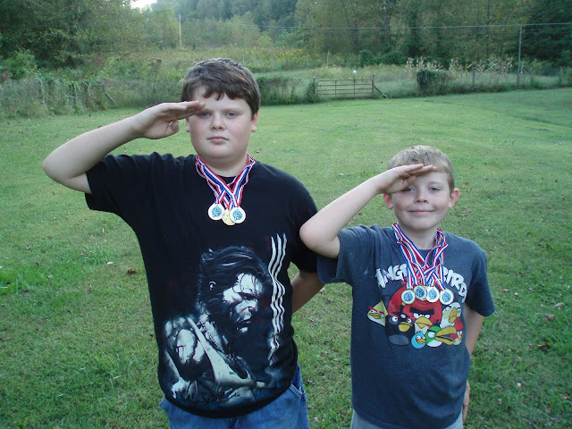 Comic Book Boys saluting Captain America style