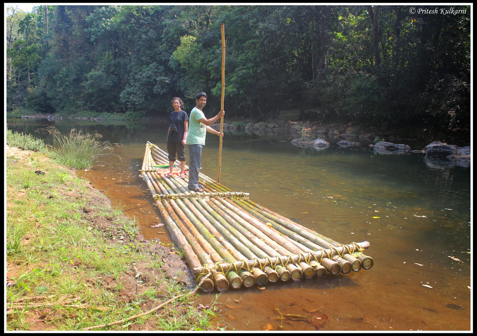 Bamboo Raft at Stream of Joy