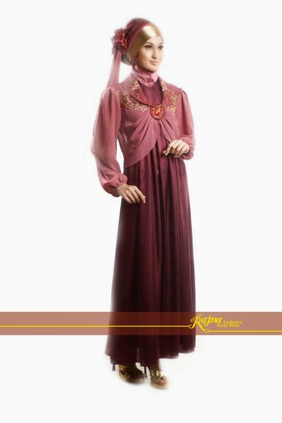 Desain Model Baju Gaun Muslim Wanita Modis Terbaru 2015