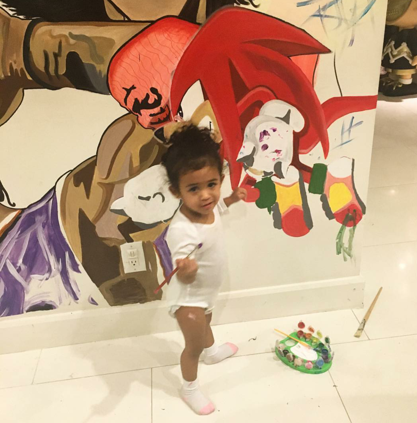 Chris Brown's daughter is too cute! | TheLiveFeeds.com