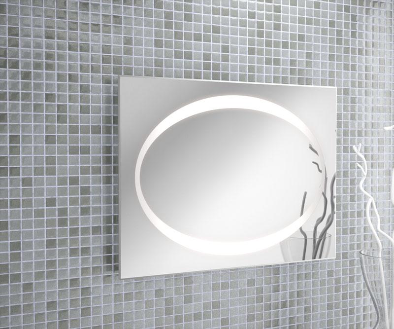 espejo baño luz incorporada BERNA OVAL