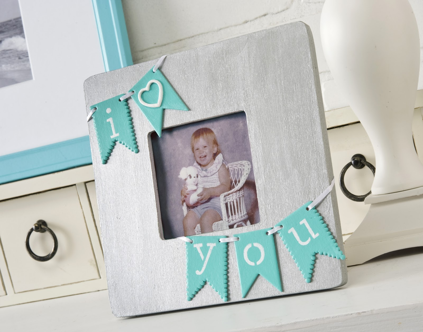 I Heart You Diy Picture Frame Mod Podge Rocks