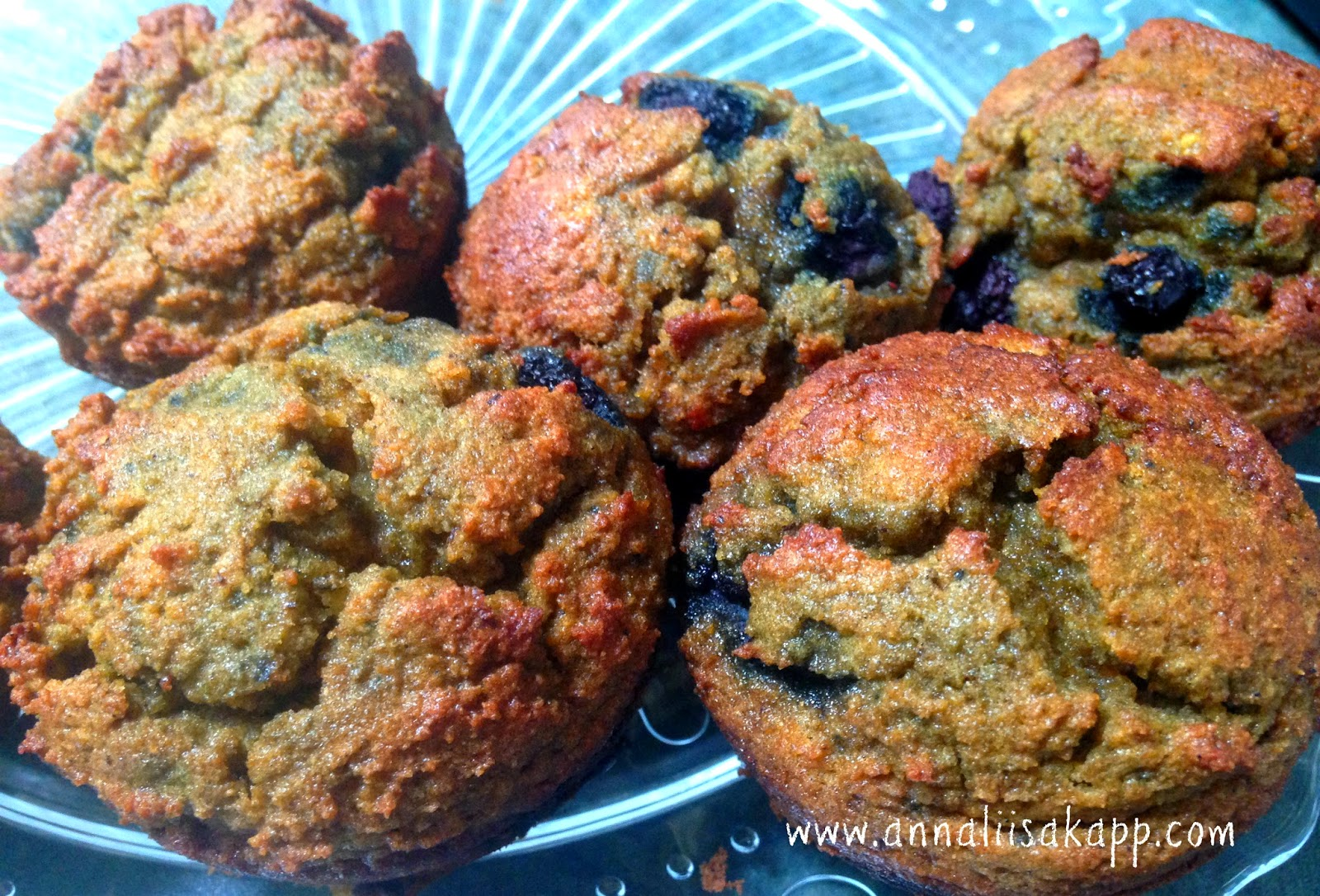 Grain-free, dairy-free simple coconut blueberry muffin recipe