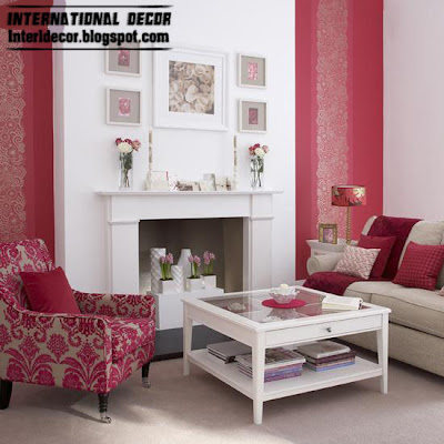 white red living room style 2013 Modern living rooms red, white design 2013