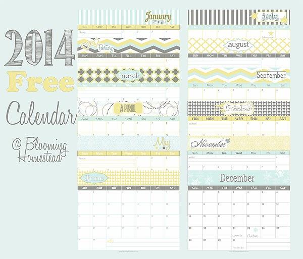 2014 Calendar Printable Free : 2014 カレンダー 書き込み : カレンダー