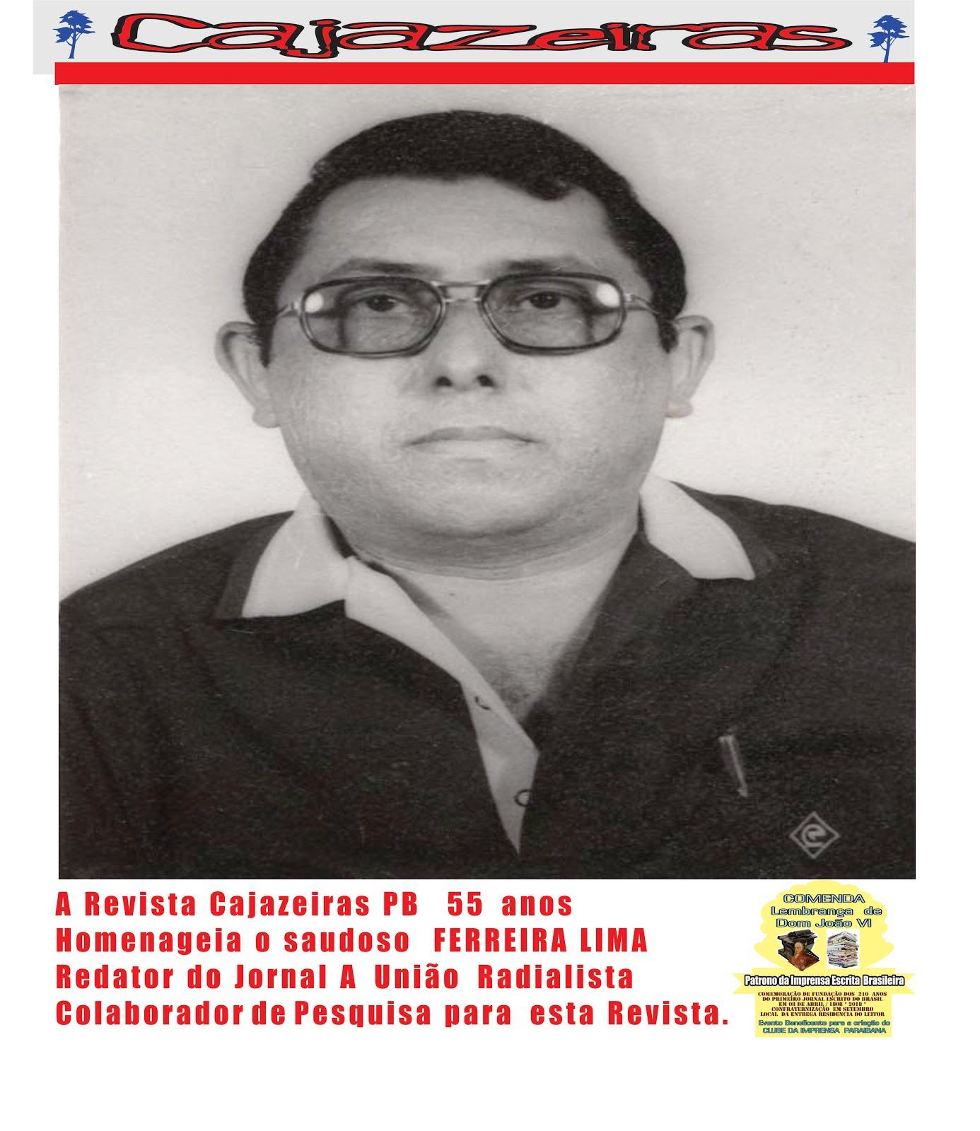 35147400e4a12 RADIALISTA E REDATOR JORNALISTA SEU FERREIRA LIMA DE JUAZEIRO DO NORTE CEARA