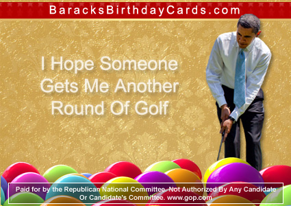 "Obama: ""I Hope Someone Gets Me Another Round Of Golf"""