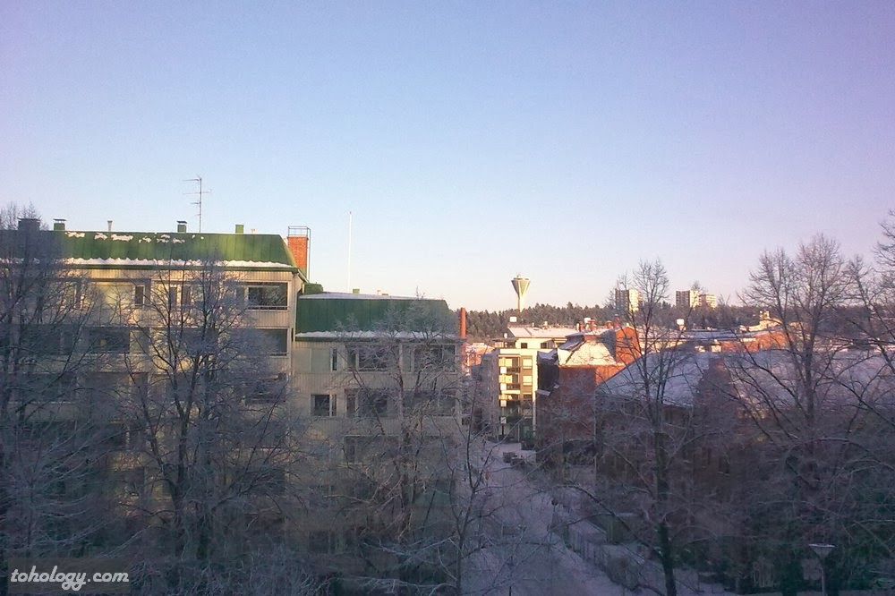 View from the hill near the church in Lahti