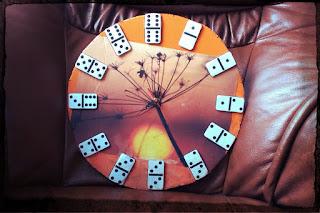 zegar wakacje domino DIY