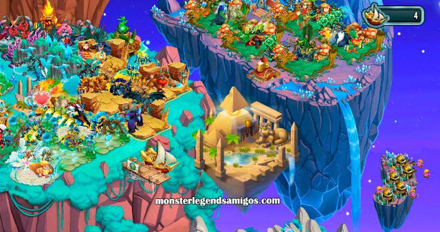 imagen de la isla egipto antiguo de monster legends