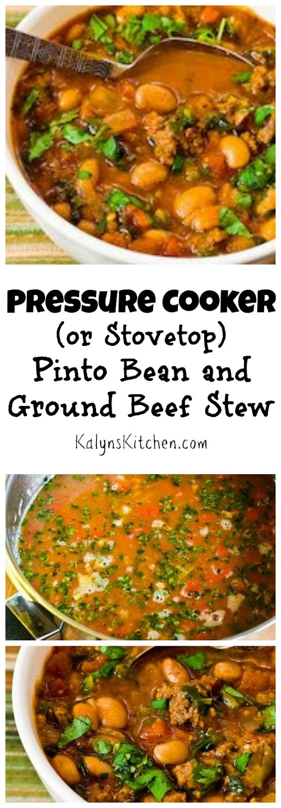 Kalyn's Kitchen®: Pressure Cooker (or Stovetop) Recipe for Pinto Bean ...
