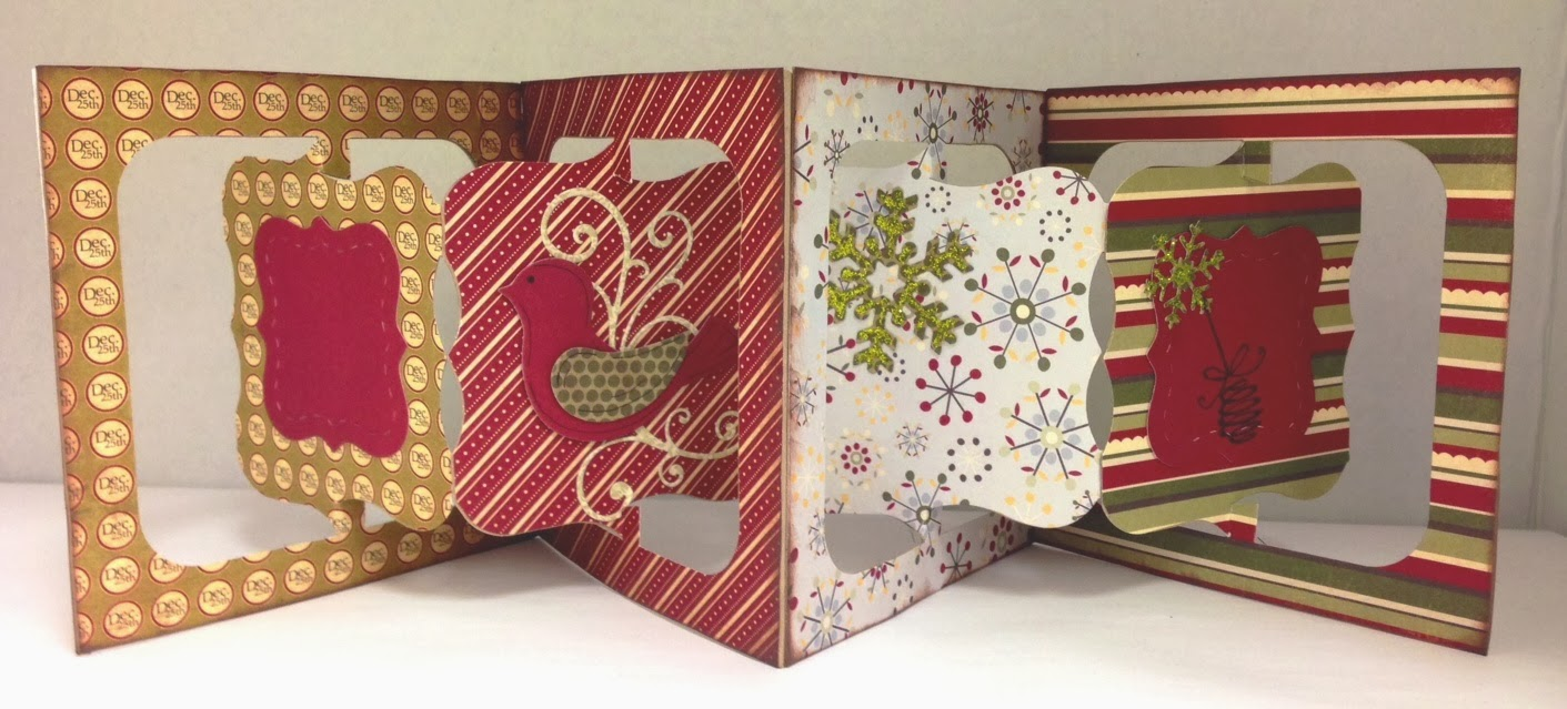 Memories of time 11 23 kathy 39 s accordian flip 3d for 3d xmas cards to make