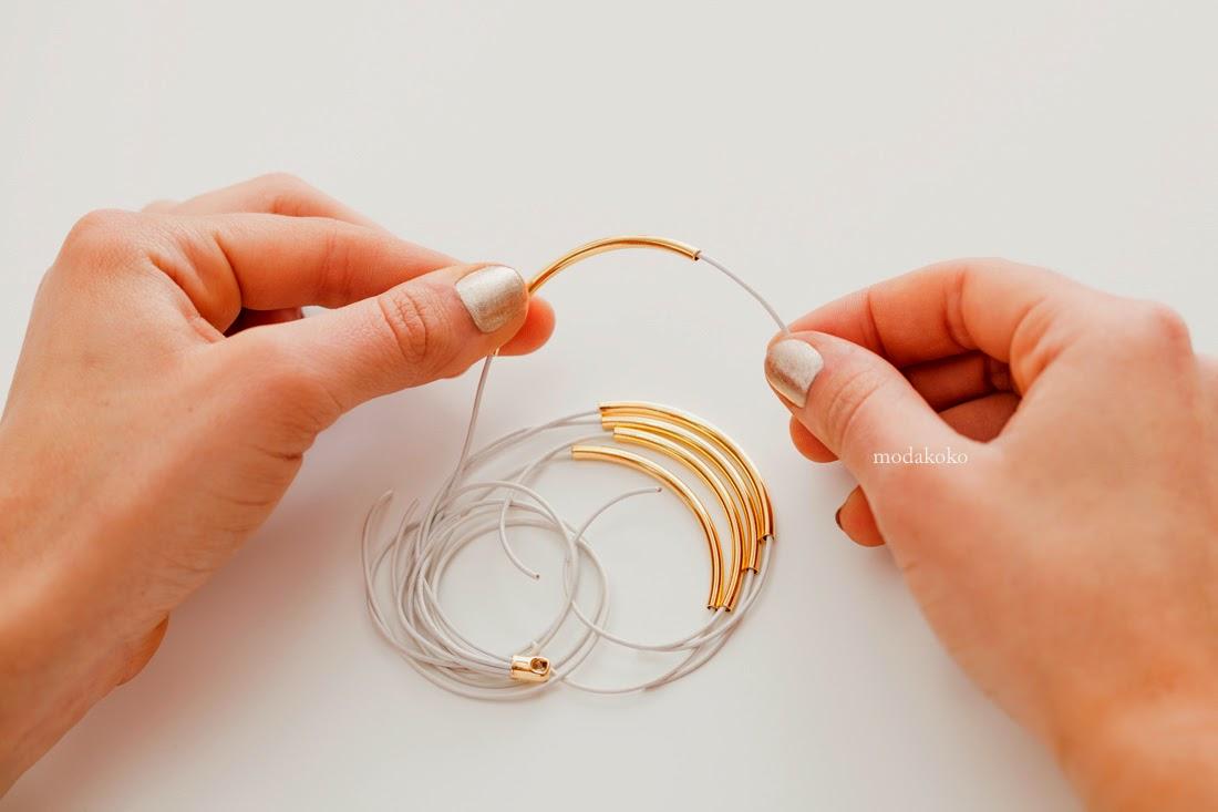 Gold Boru Bileklik Yapımı