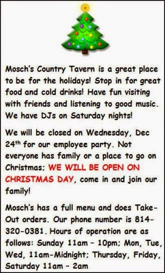 Mosch's Country Tavern, Coudersport