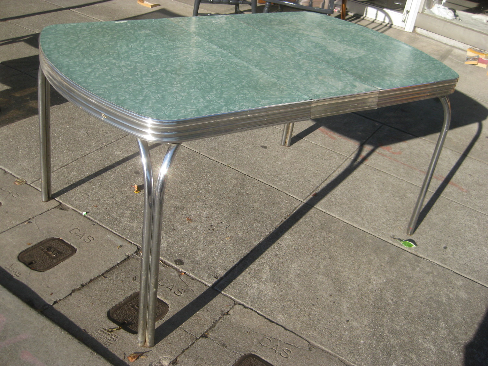 sold 50s chrome formica kitchen table 65 - Formica Kitchen Table