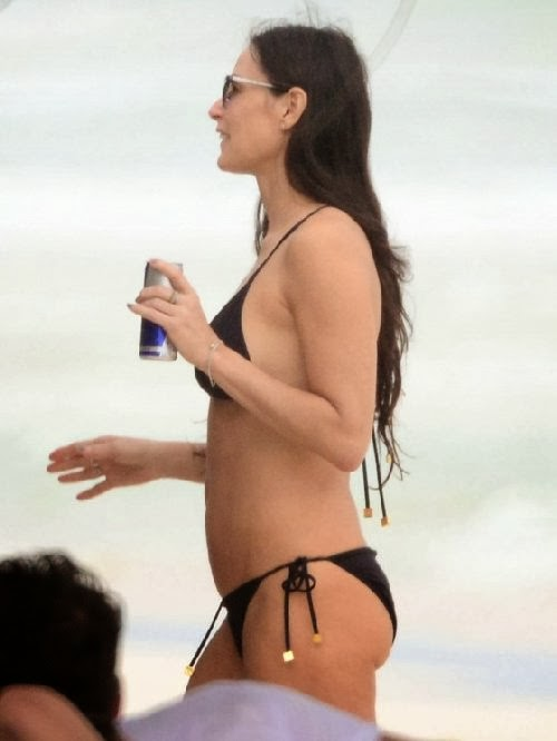 English: Demi Moore Bikini 51 Tulum Mexico