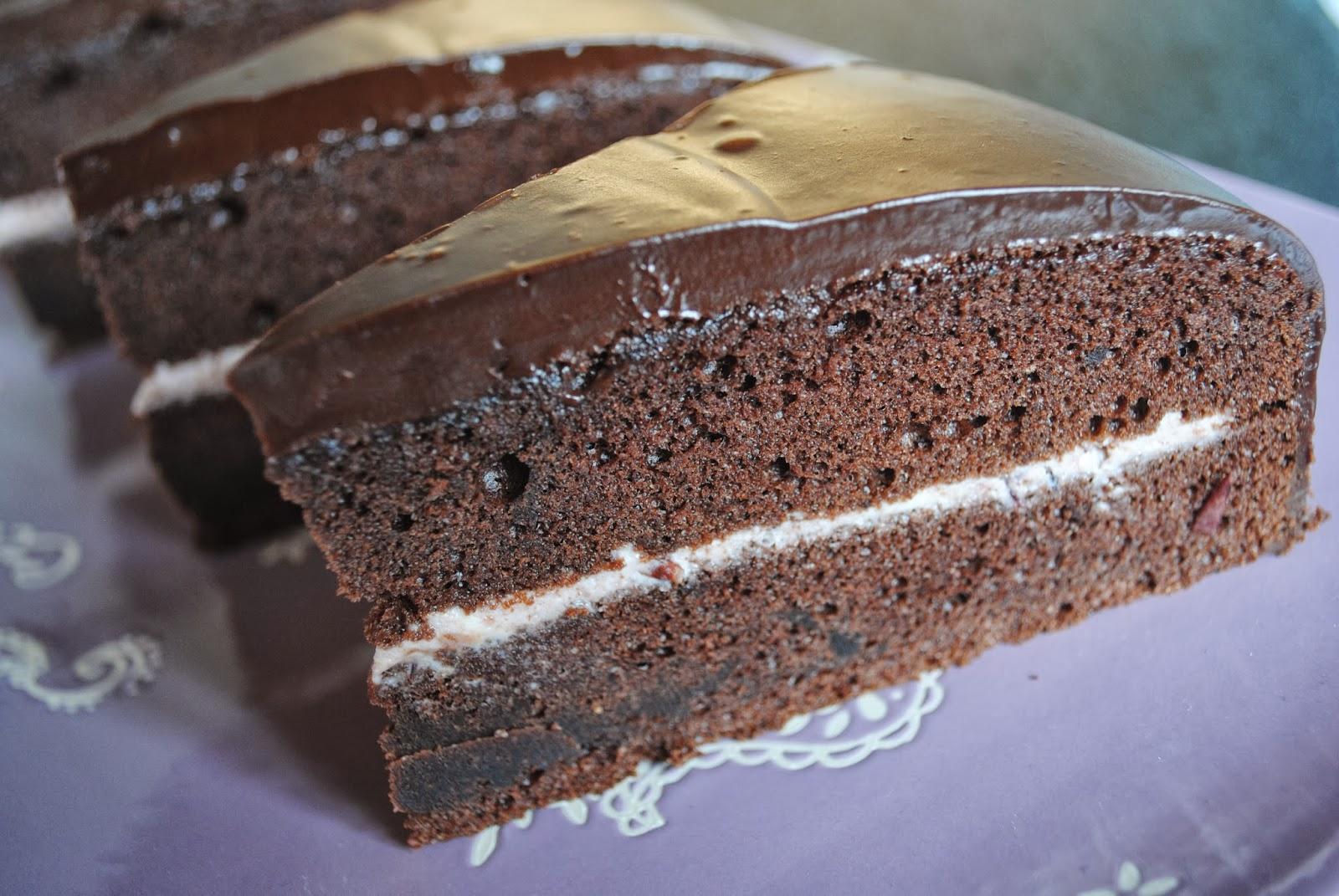 recept chocoladetaart met vulling