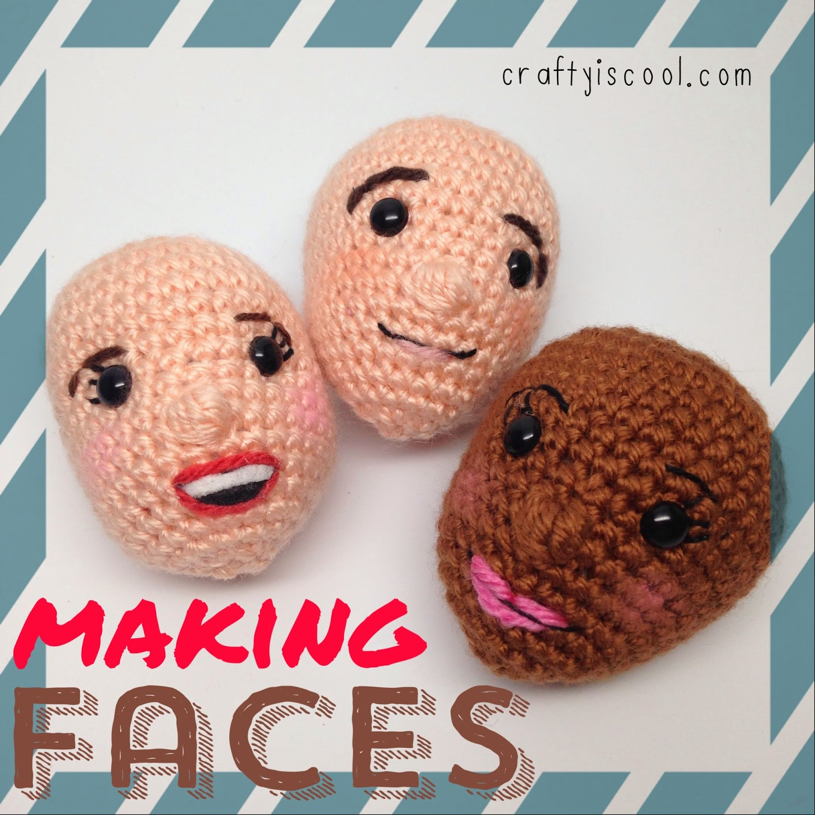 CRAFTYisCOOL: AmiguruME Faces! How-to Video