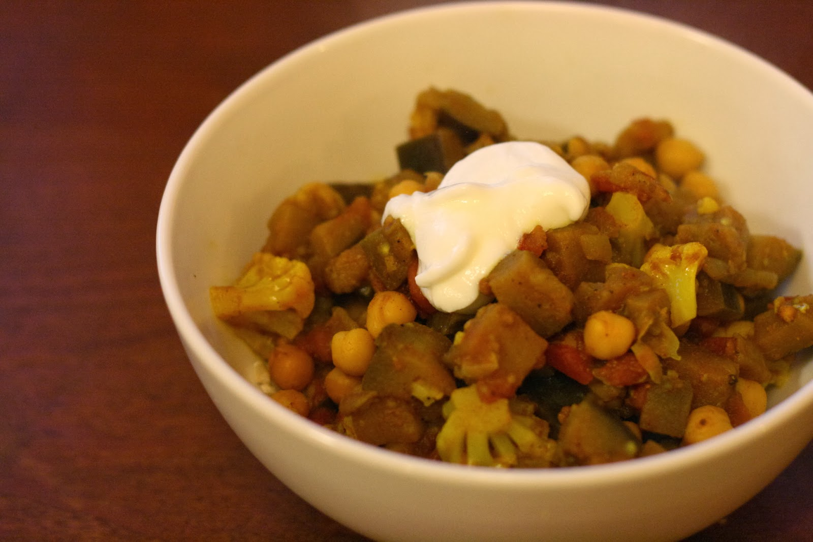 Indian-Spiced Eggplant and Cauliflower Stew forecasting