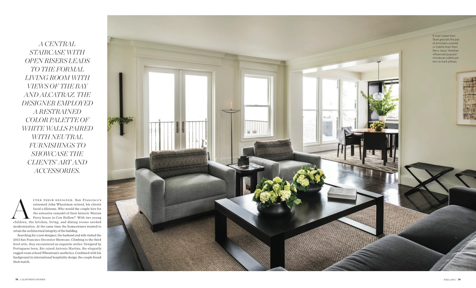 Restrained Elegance California Homes Magazine Fall 2015