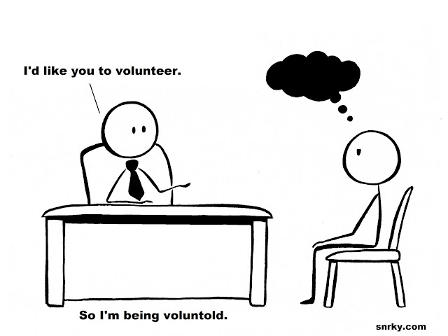 Snarky: I'd like you to volunteer.