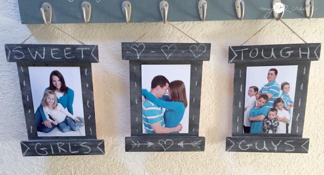 DIY Chalkboard Frames, MyLove2Create