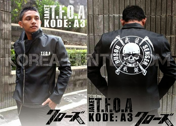 KOREA-HUNTER.com jual murah Jaket Kulit Crows Zero Hideto Bando | kaos crows zero tfoa | kemeja national geographic | tas denim korean style blazer