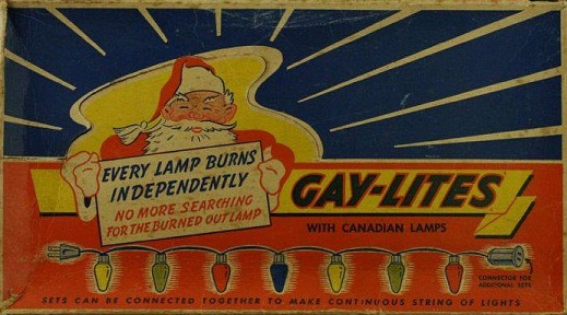 who would have thought that back in the day it wouldve been okay to buy gay christmas lites lol you gotta love christmas have a merry one everybody