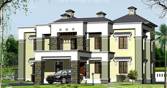 Luxury House Elevation In 3900 House Design Plans