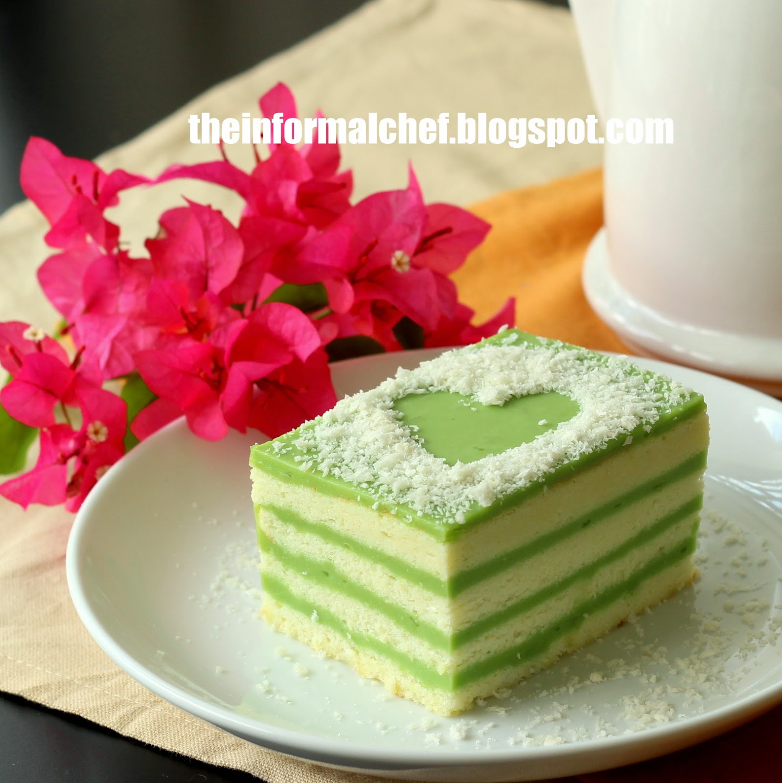 The Informal Chef: Pandan Layer Cake 香兰层蛋糕