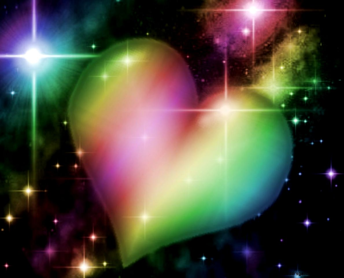 abstract rainbow heart wallpaper wallpapers gallery