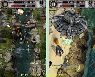Air Attack HD Free Android Game Application Interface