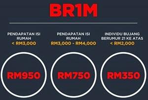 Berapa BR1M dapat tahun 2015
