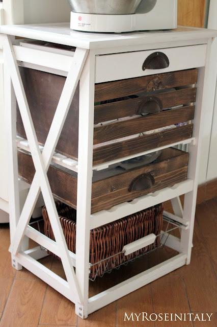 My roseinitaly carrello da cucina rimodernato - Cose semplici da cucinare ...